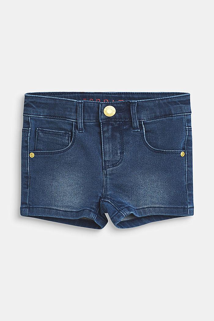 Short en jean stretch à taille ajustable, BLUE MEDIUM WASHED, detail image number 0