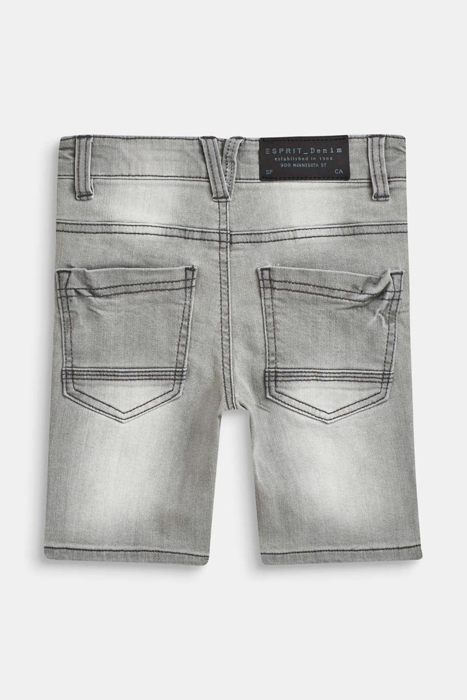 Shorts denim, LCGREY DENIM, detail image number 1