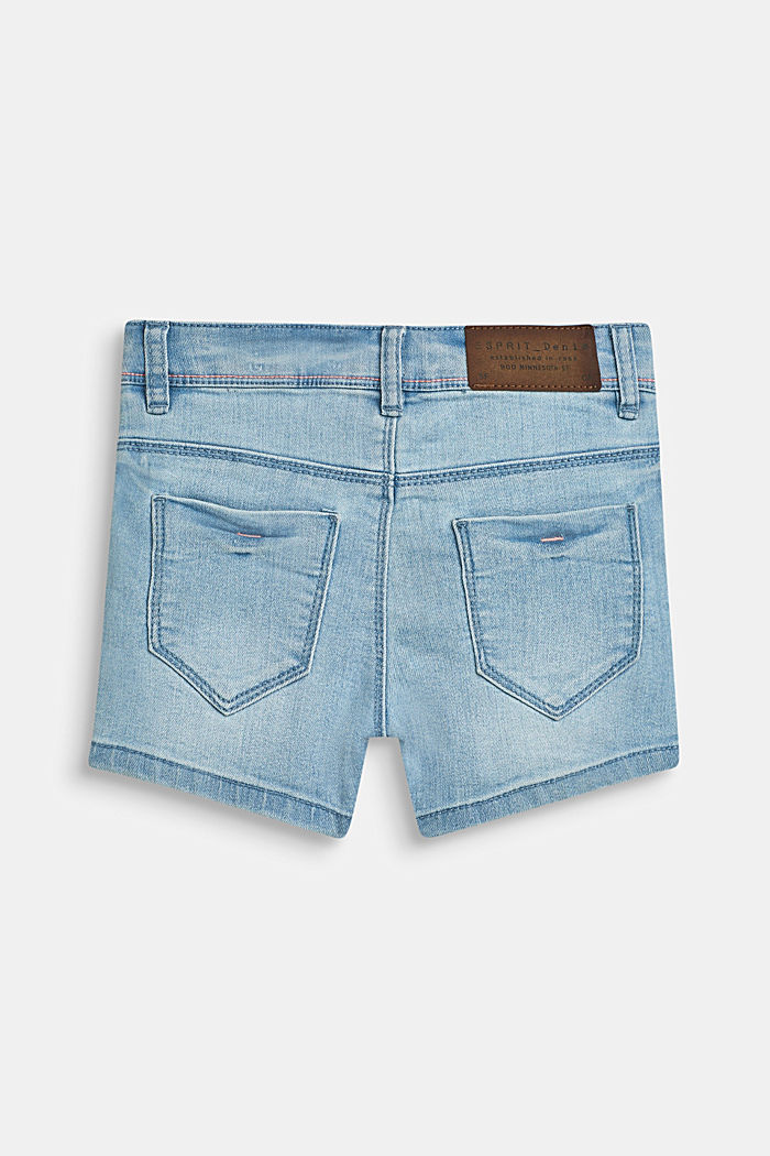 Superstrech-Jeansshorts mit Washed Out-Effekt, BLEACHED DENIM, detail image number 1