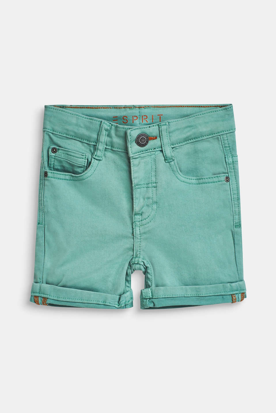 Esprit - Stretch denim shorts in a fashion colour