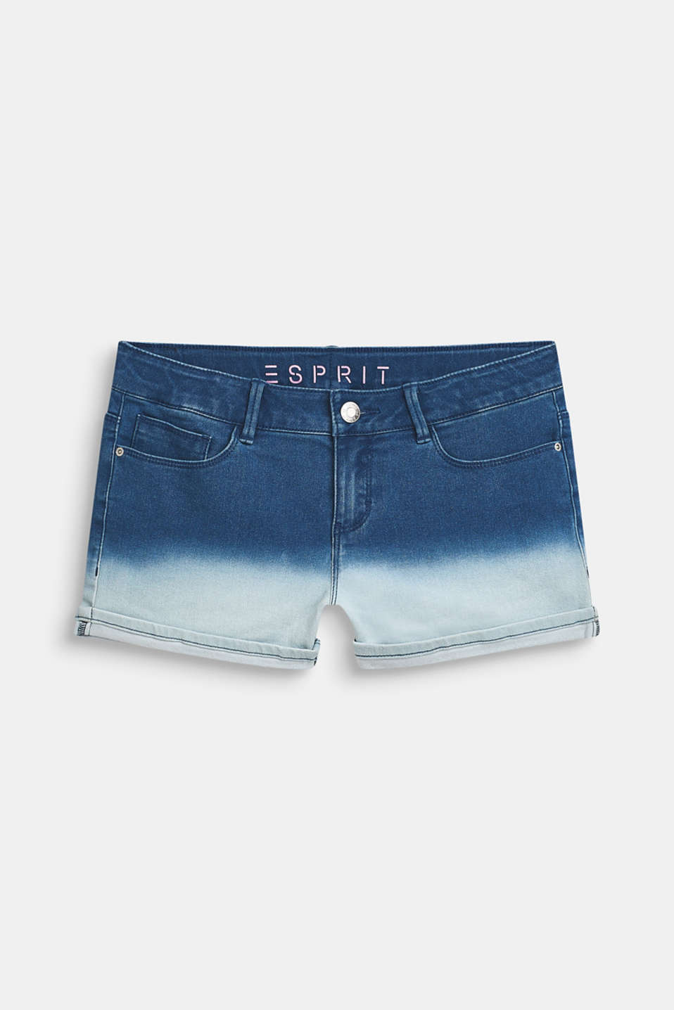 Esprit - Gebatikte short van joggingstof met stretch