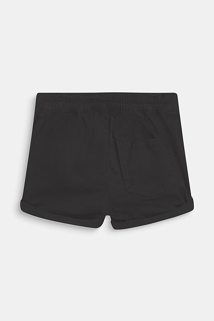 Stretch cotton shorts with an elasticated waist, ANTHRACITE, detail image number 2