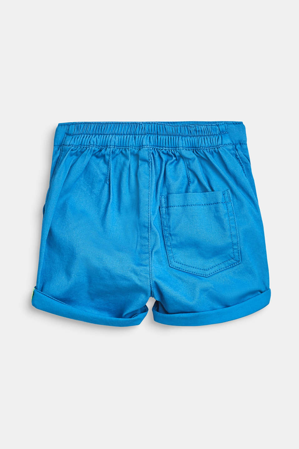 Stretch cotton shorts with an elasticated waist, LCAZUR BLUE, detail image number 2