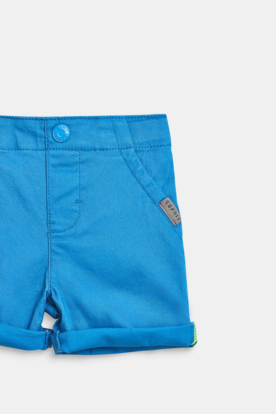 Stretch cotton shorts with an elasticated waist, LCAZUR BLUE, detail image number 1