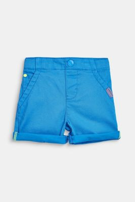 Stretch cotton shorts with an elasticated waist, LCAZUR BLUE, detail