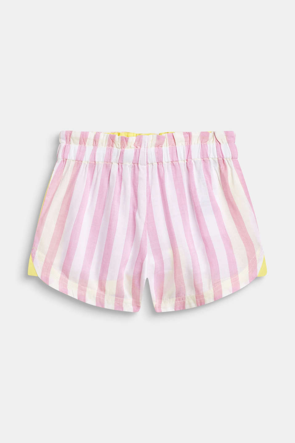 Striped woven shorts with a print, 100% cotton, CANDY PINK, detail image number 1