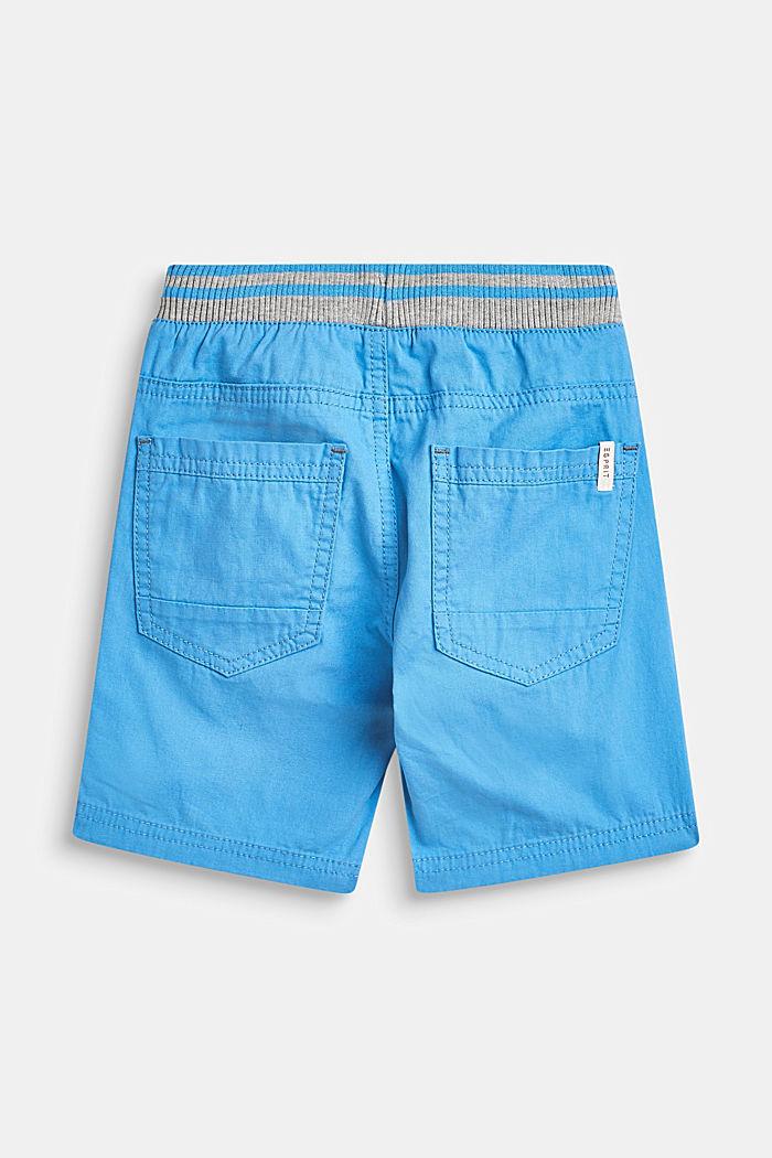 Geweven short met elastische, ribgebreide band, AZUR BLUE, detail image number 2