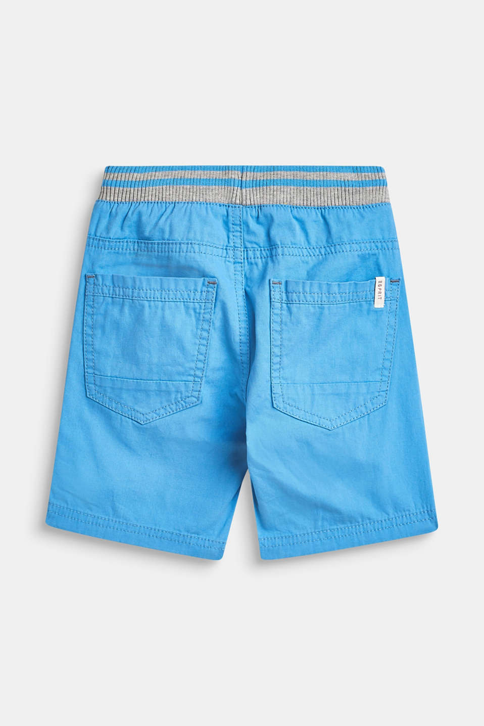 Woven shorts with elasticated, rib knit waistband, AZUR BLUE, detail image number 2