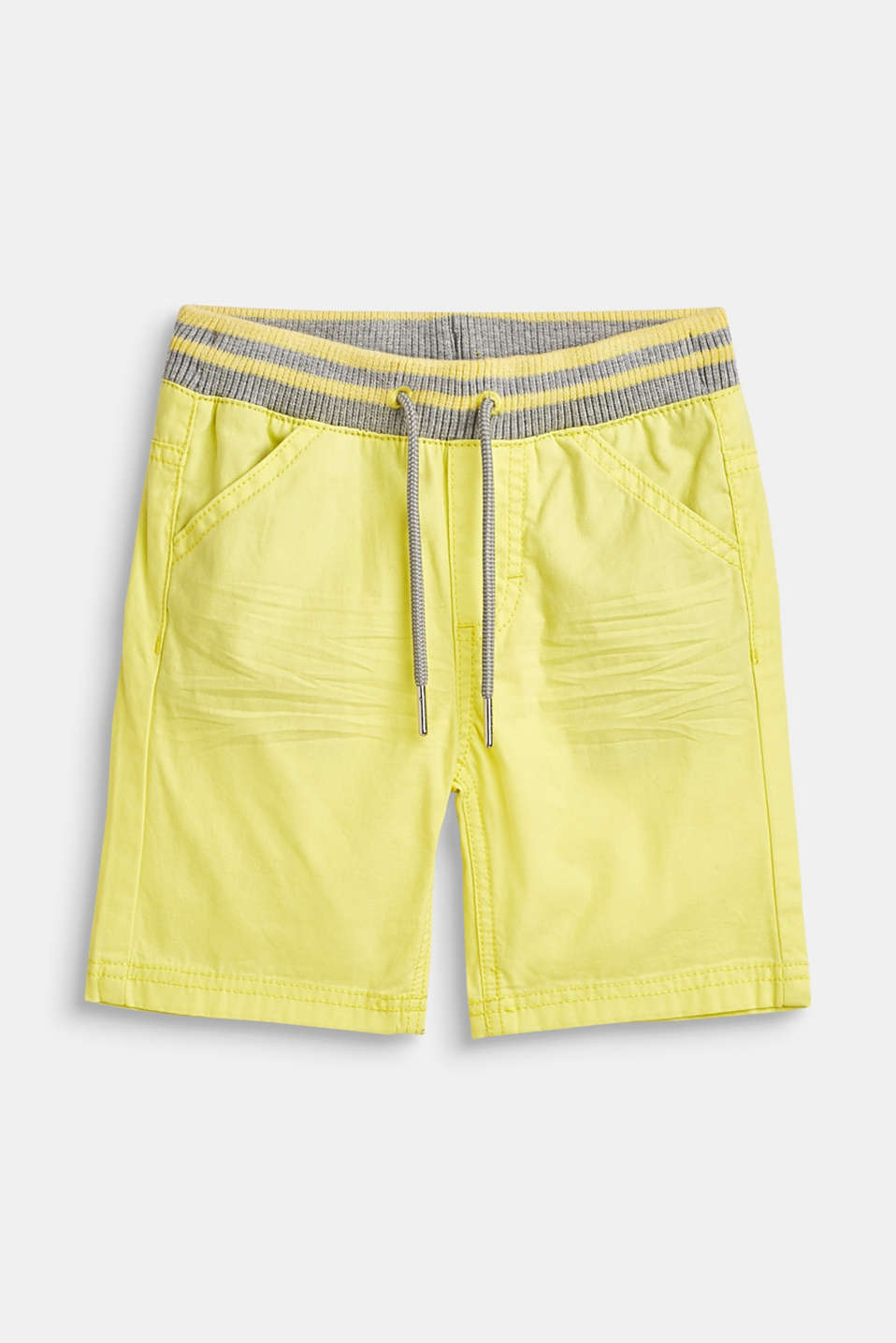 Esprit - Woven shorts with elasticated, rib knit waistband