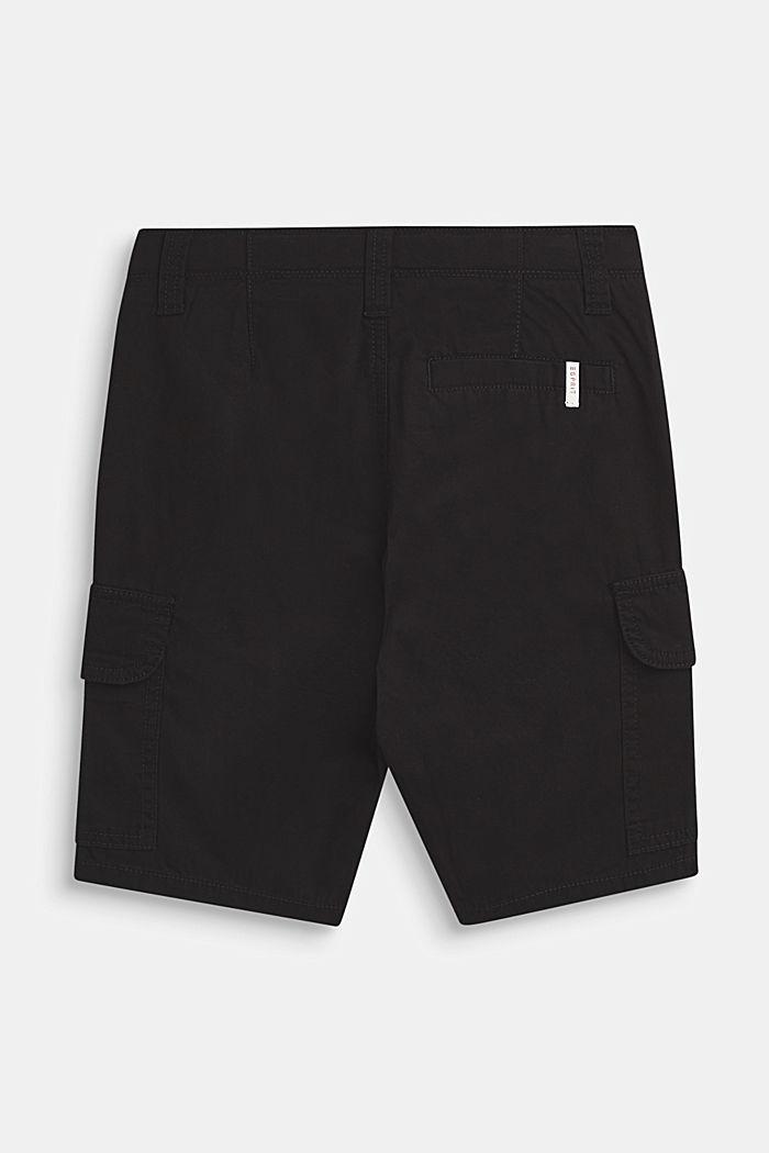 Shorts i cargomodell, 100% bomull, LCANTHRACITE, detail image number 2