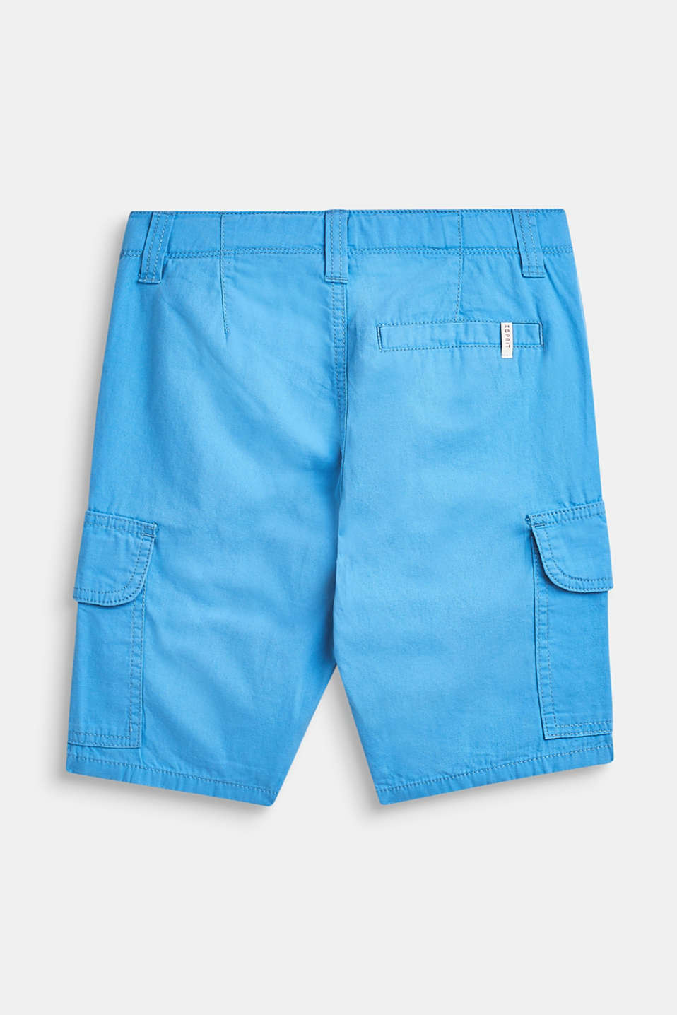 Shorts in a cargo style, 100% cotton, LCAZUR BLUE, detail image number 2