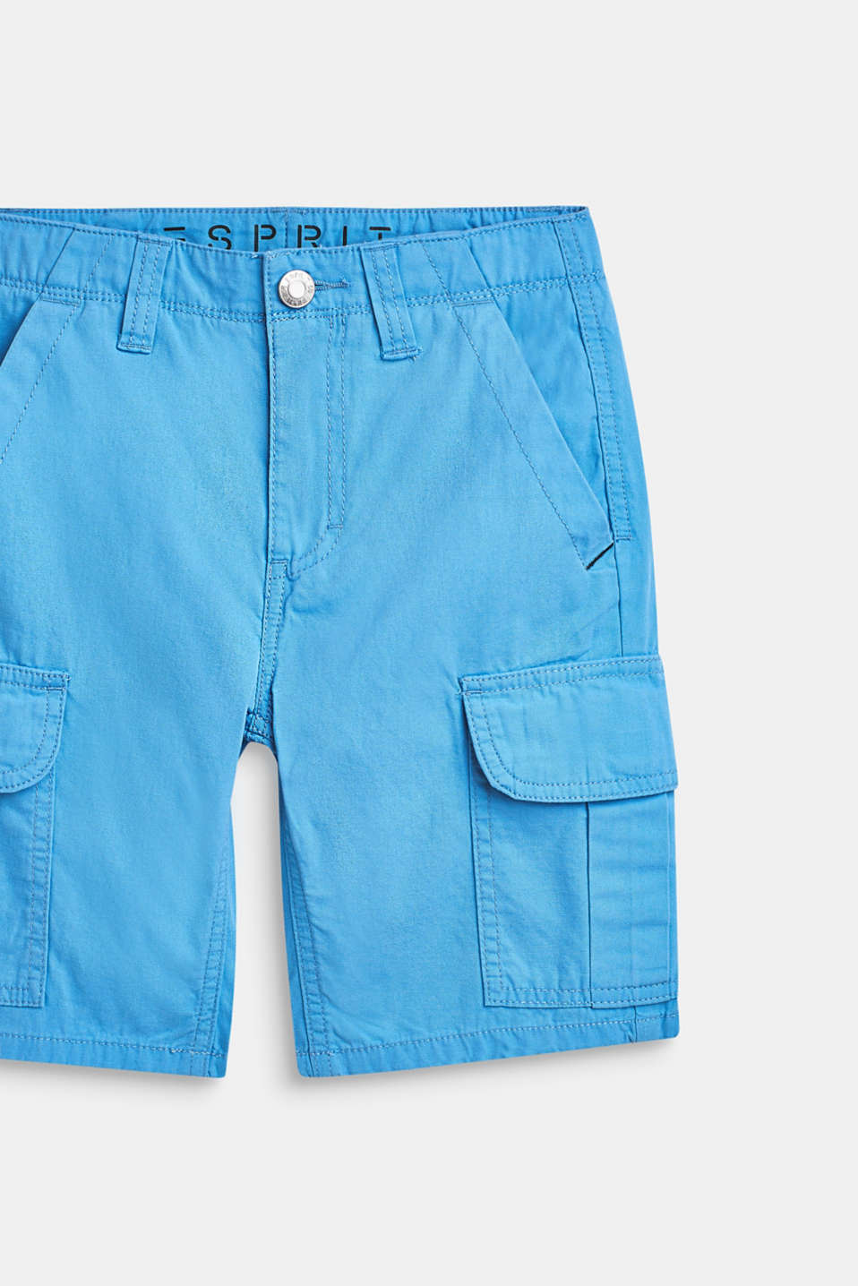 Shorts in a cargo style, 100% cotton, LCAZUR BLUE, detail image number 1