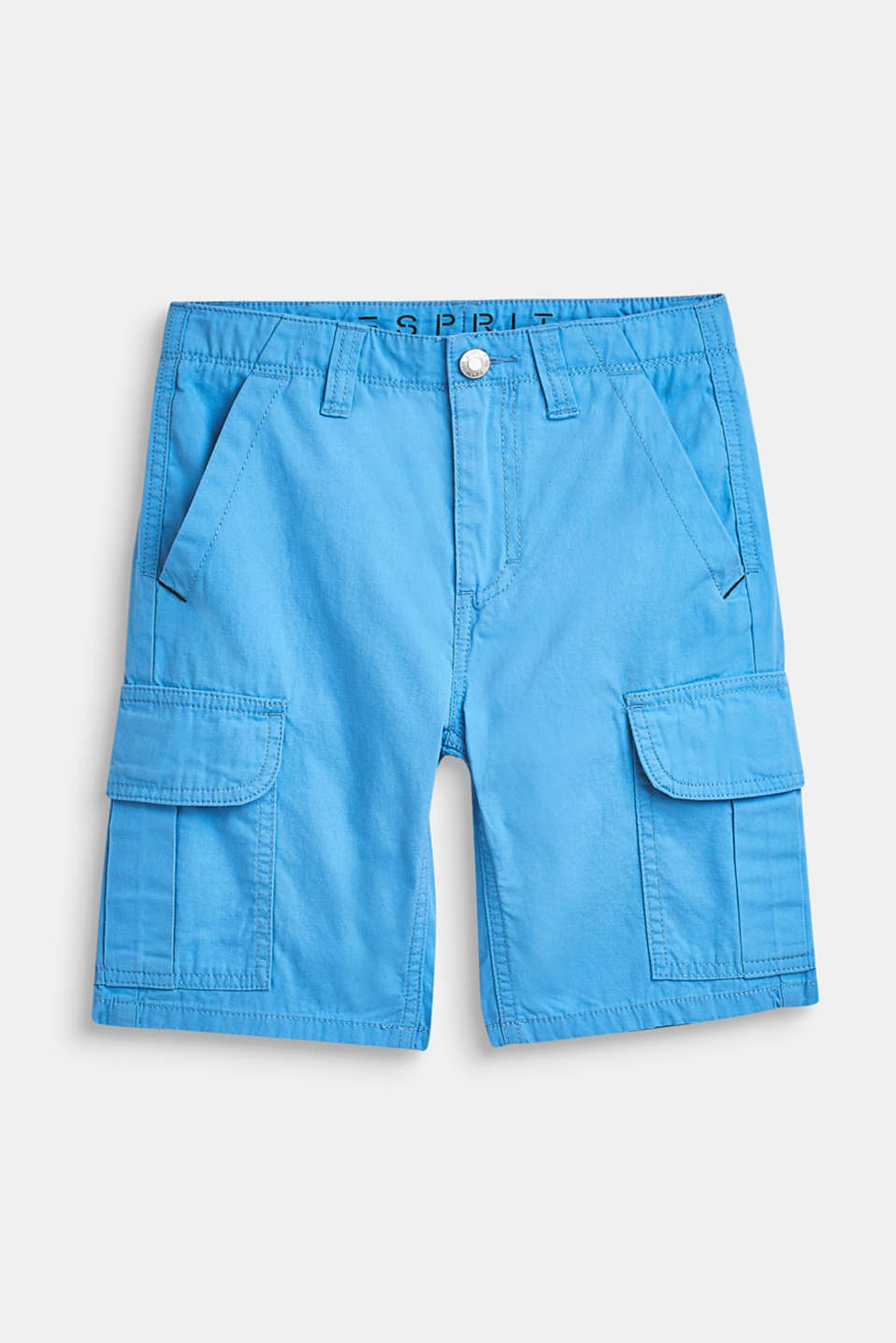 Shorts in a cargo style, 100% cotton, LCAZUR BLUE, detail image number 0