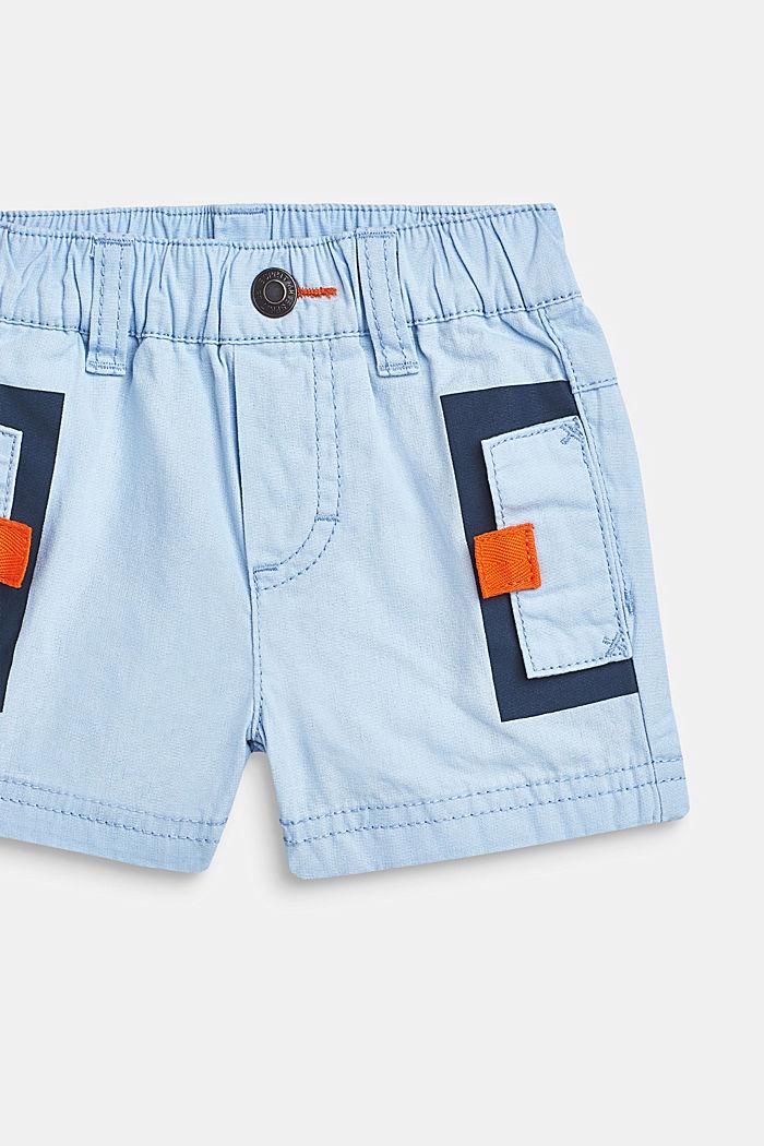 Shorts con cintura elástica, 100% algodón, LCSKY BLUE, detail image number 1
