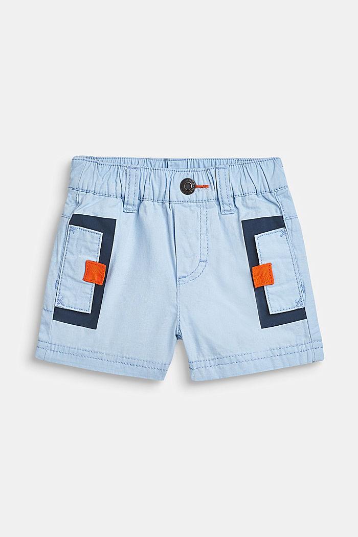 Shorts con cintura elástica, 100% algodón, LCSKY BLUE, detail image number 0