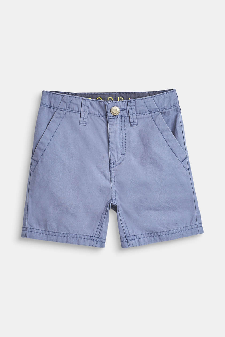 Esprit - 100% cotton shorts, adjustable waistband