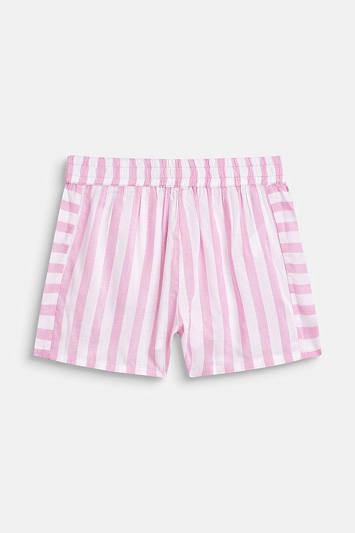 Striped shorts, 100% viscose, LCCANDY PINK, detail image number 2