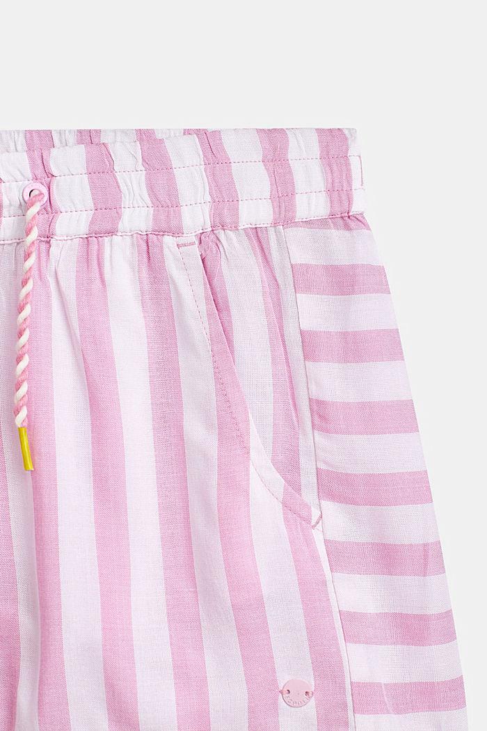 Striped shorts, 100% viscose, LCCANDY PINK, detail image number 1