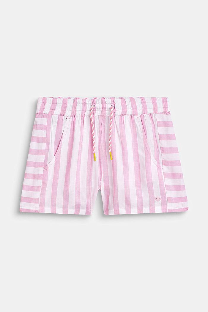 Striped shorts, 100% viscose, LCCANDY PINK, detail image number 0
