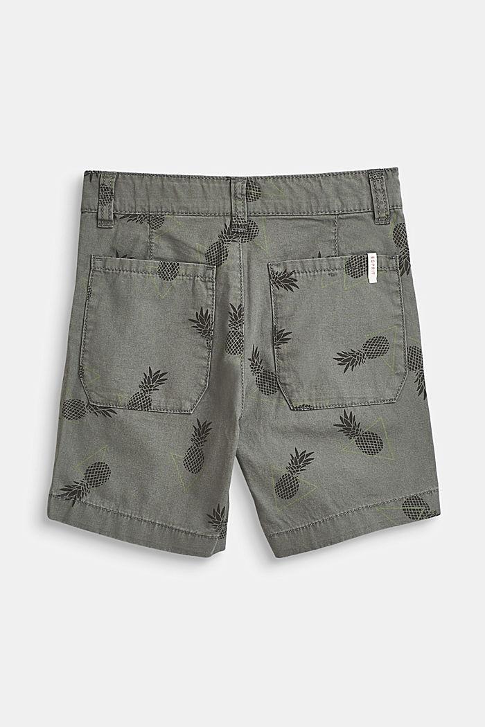 Pineapple print shorts, 100% cotton, LIGHT KHAKI, detail image number 2