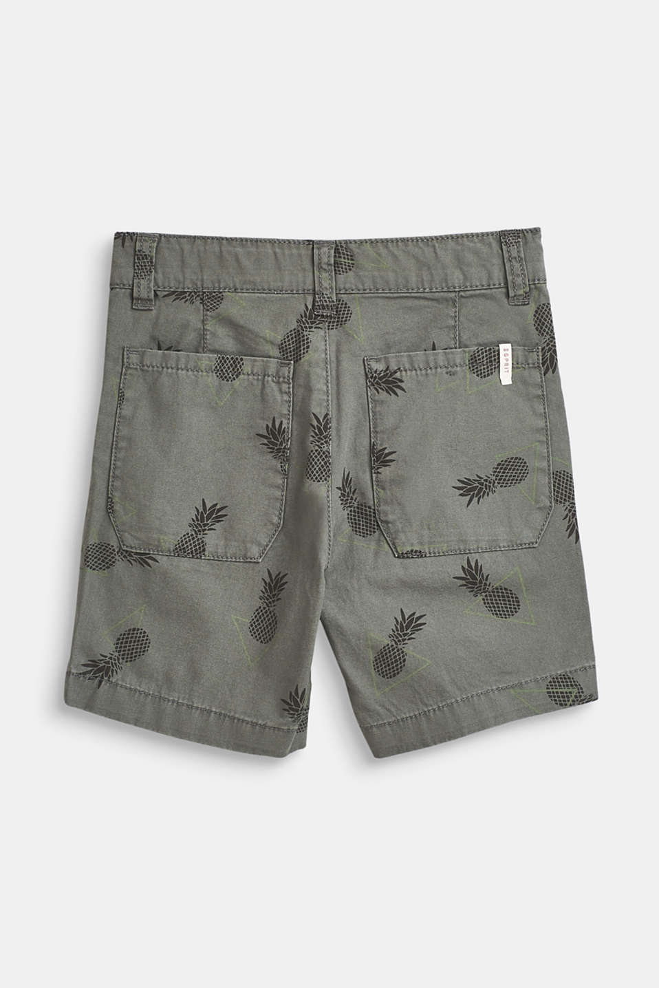 Pineapple print shorts, 100% cotton, LIGHT KHAKI, detail image number 2