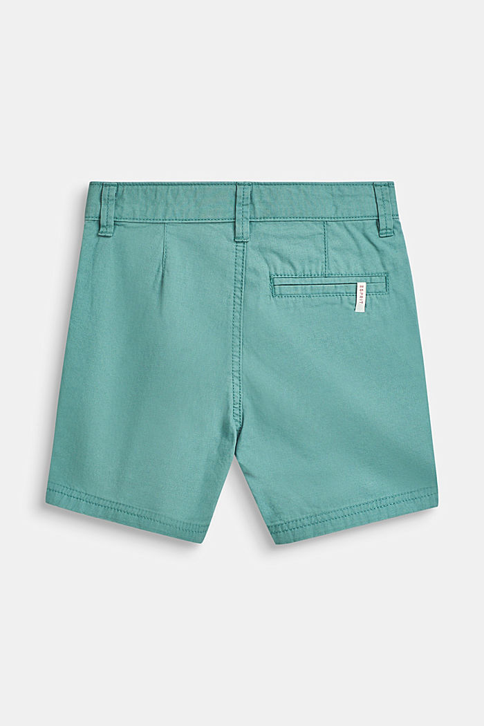 Shorts with adjustable waistband, 100% cotton, SOFT GREEN, detail image number 1