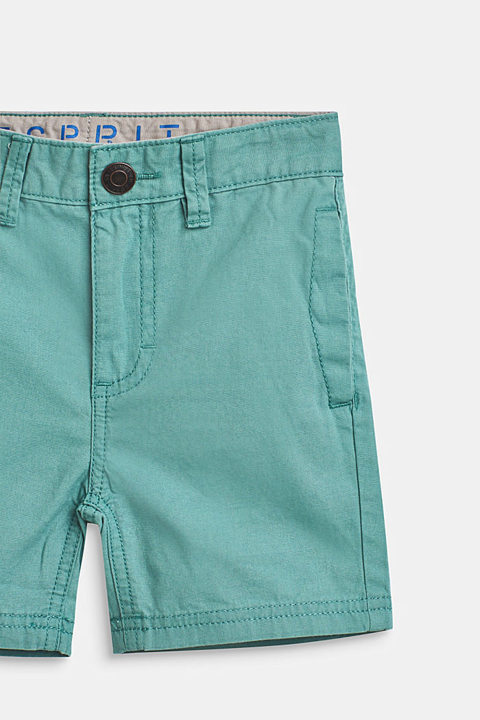 Shorts with adjustable waistband, 100% cotton, SOFT GREEN, detail image number 2