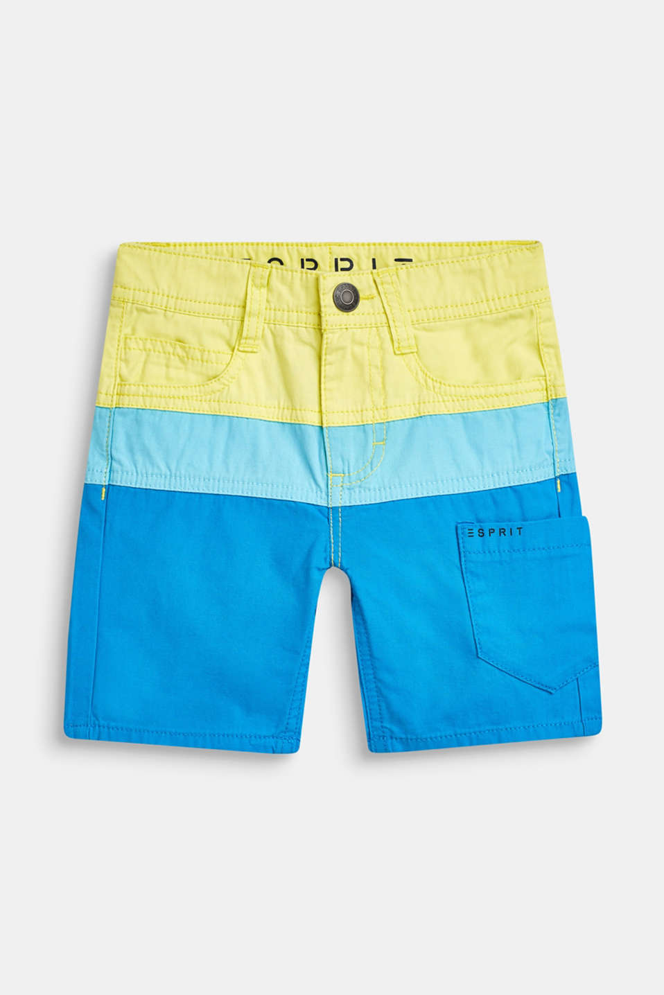 Esprit - Bermudas in a colour block design, 100% cotton