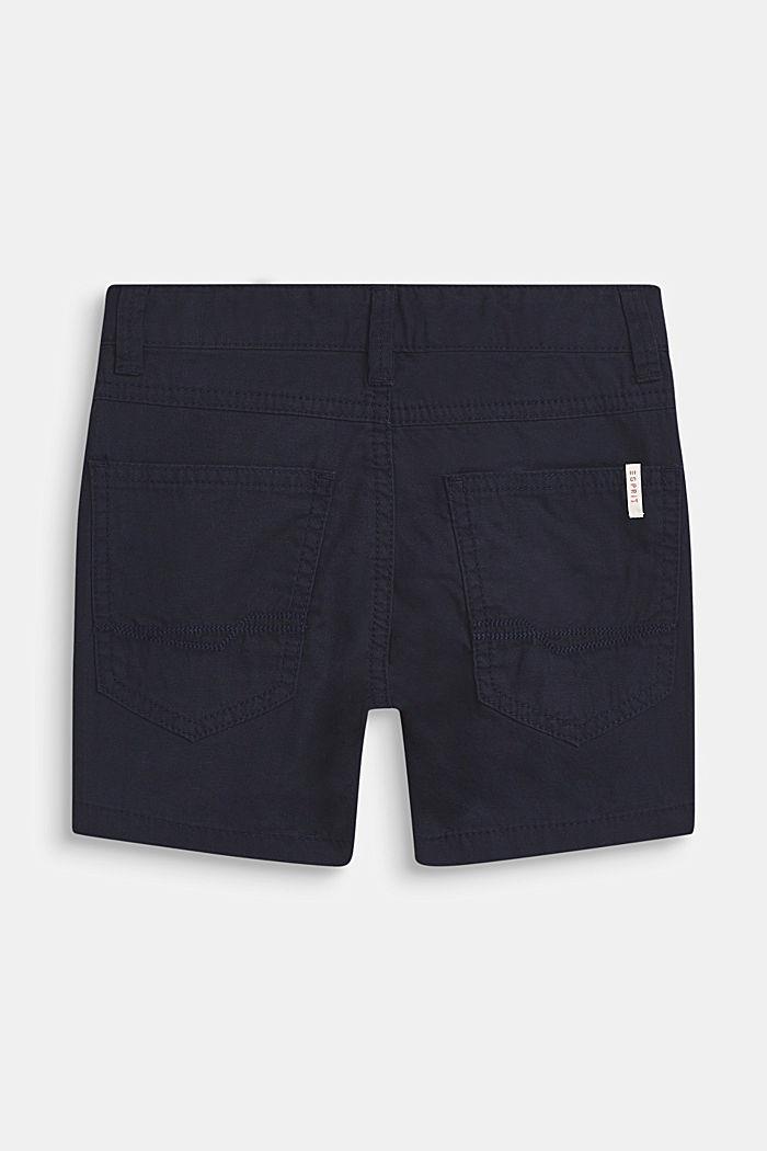 Pantalón corto en 100% algodón, BLEU NAVY, detail image number 1