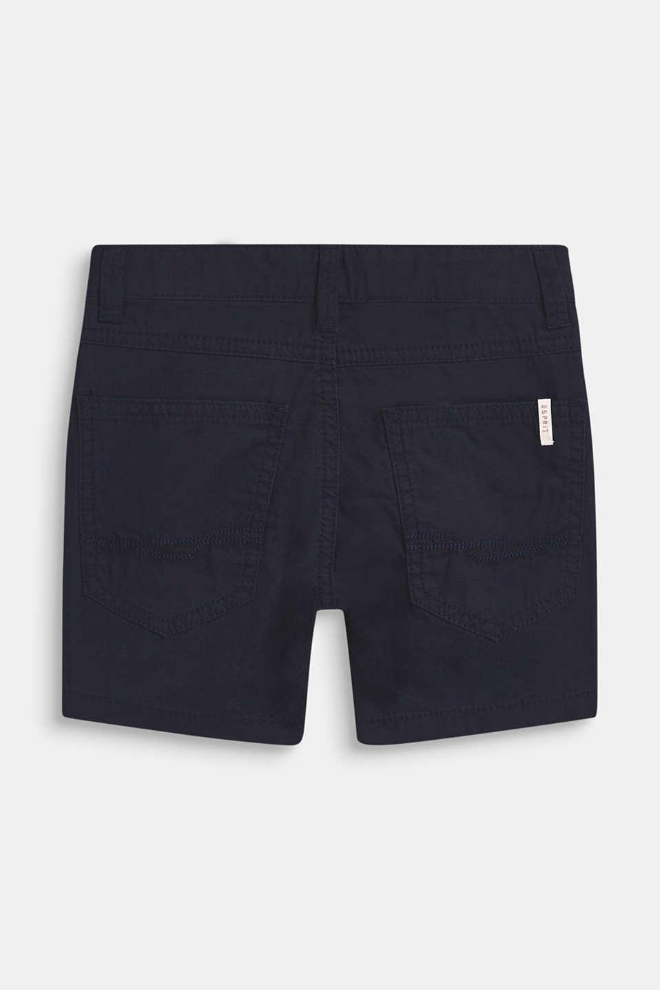 shorts in 100% cotton, BLEU NAVY, detail image number 1
