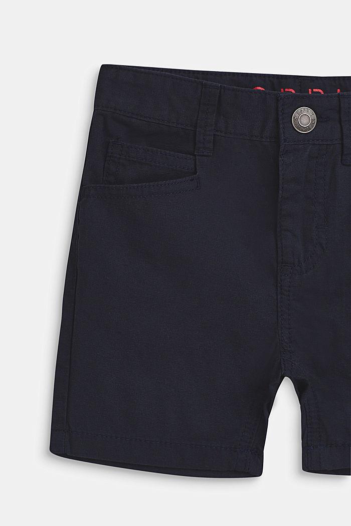 Pantalón corto en 100% algodón, BLEU NAVY, detail image number 2