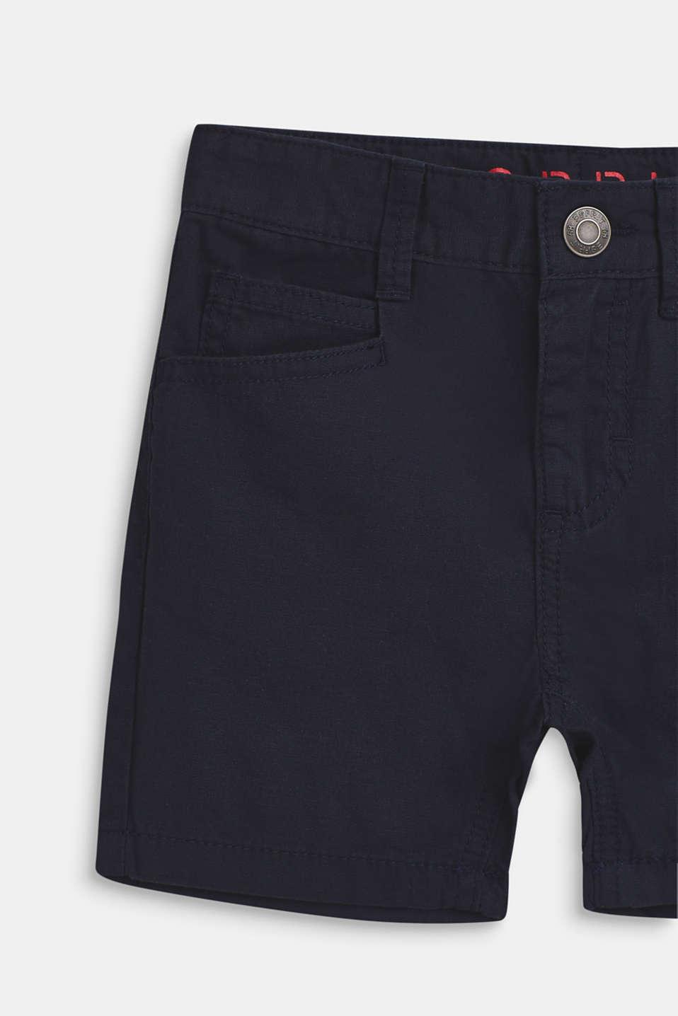 shorts in 100% cotton, BLEU NAVY, detail image number 2
