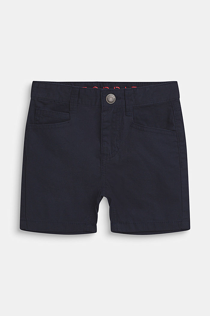 Pantalón corto en 100% algodón, BLEU NAVY, detail image number 0