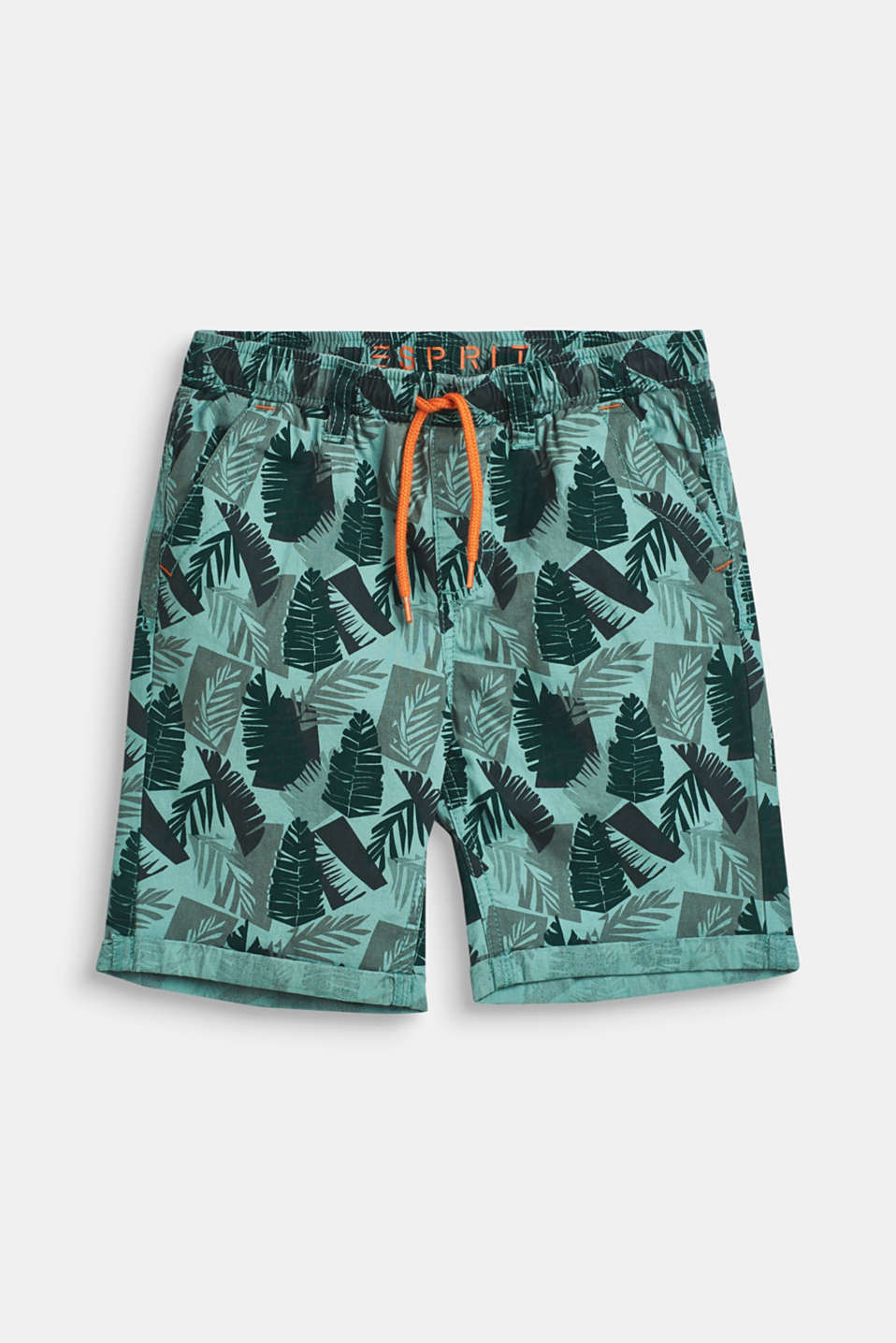 Esprit - Shorts with tropical print, 100% cotton