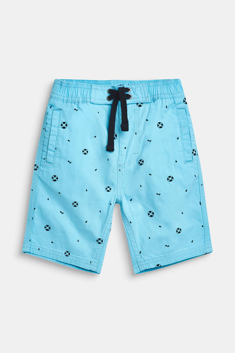 Nautical print Bermudas, 100% cotton, AQUARIUS, detail image number 0