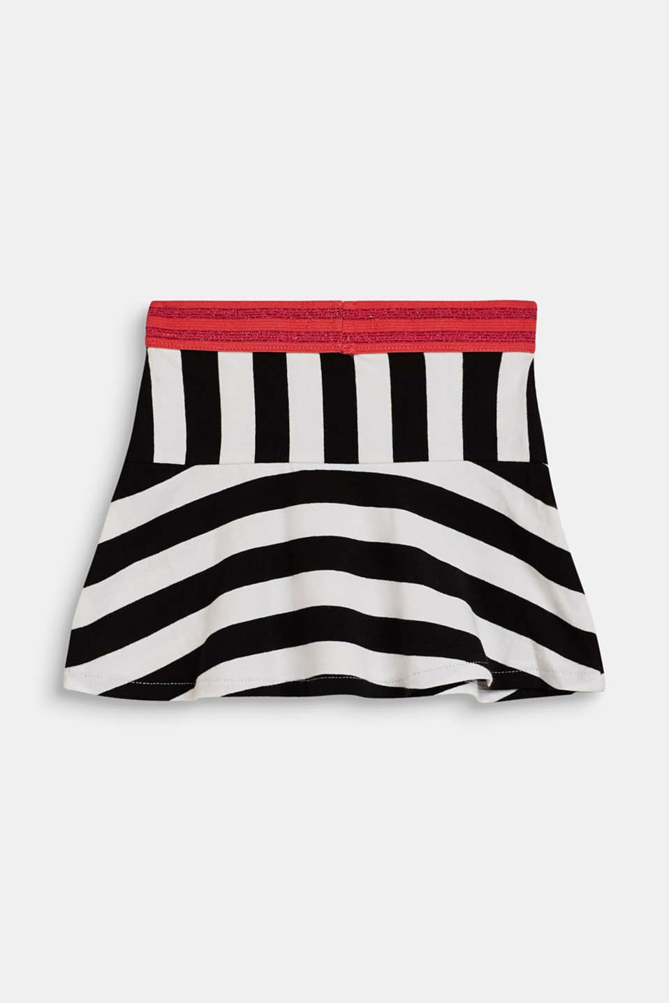 Striped skirt with a decorative elasticated waistband, LCWHITE, detail image number 1