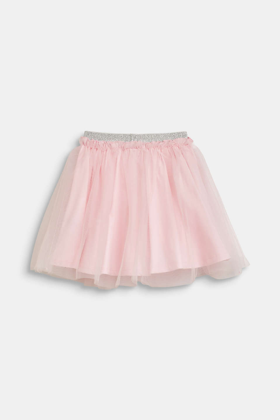 Esprit - Flared tulle skirt with a glittering waistband