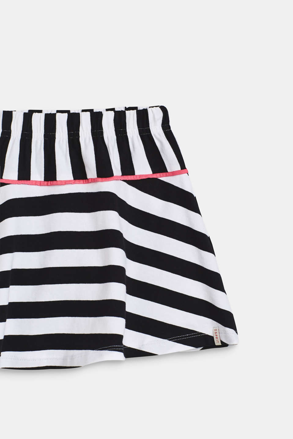 Striped jersey skirt, WHITE, detail image number 2