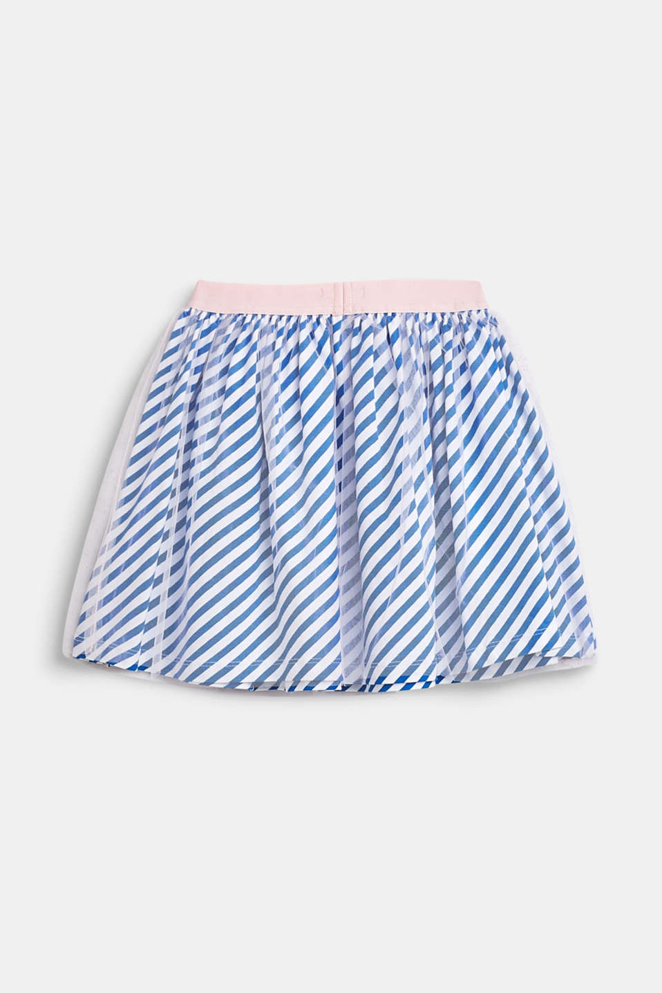 Striped jersey skirt with tulle, INFINITY BLUE, detail image number 1