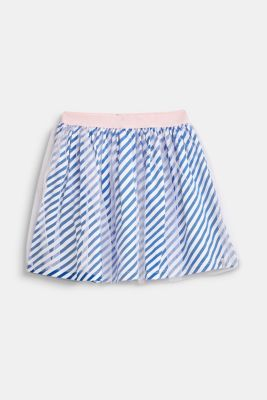 Striped jersey skirt with tulle, INFINITY BLUE, detail