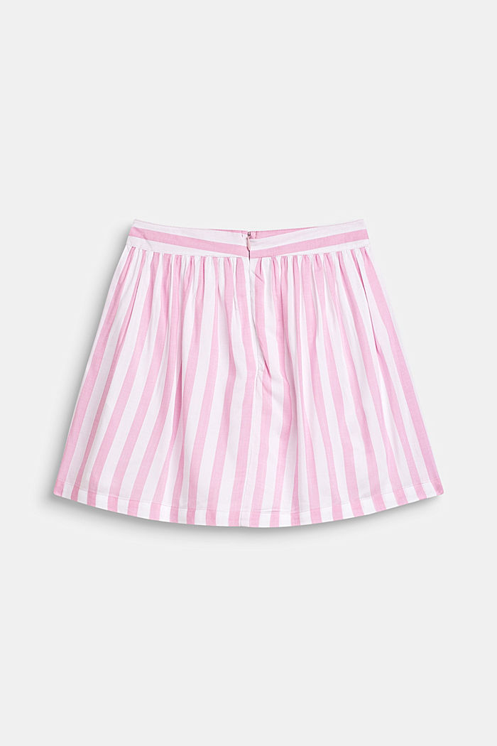 Striped skirt in lightweight woven fabric, CANDY PINK, detail image number 1