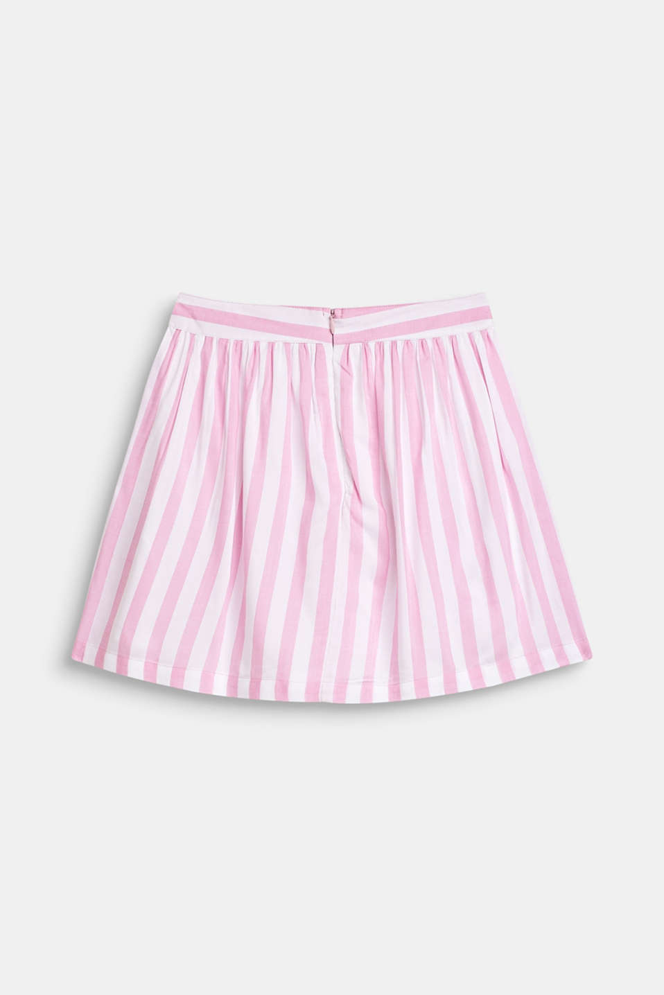 Striped skirt in lightweight woven fabric, LCCANDY PINK, detail image number 1