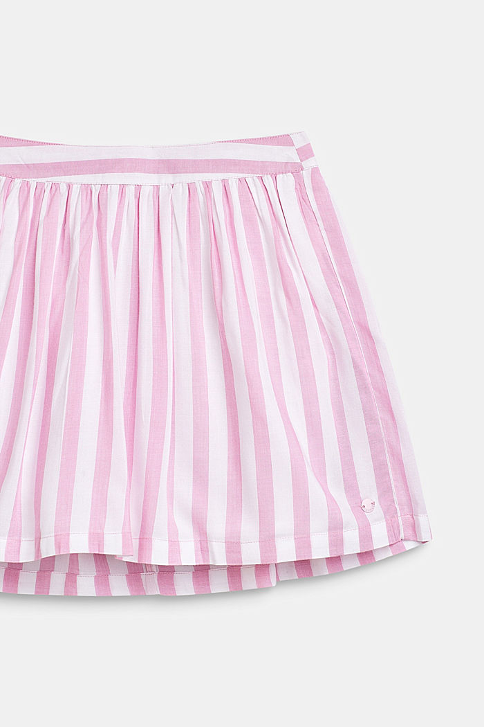 Striped skirt in lightweight woven fabric, CANDY PINK, detail image number 2