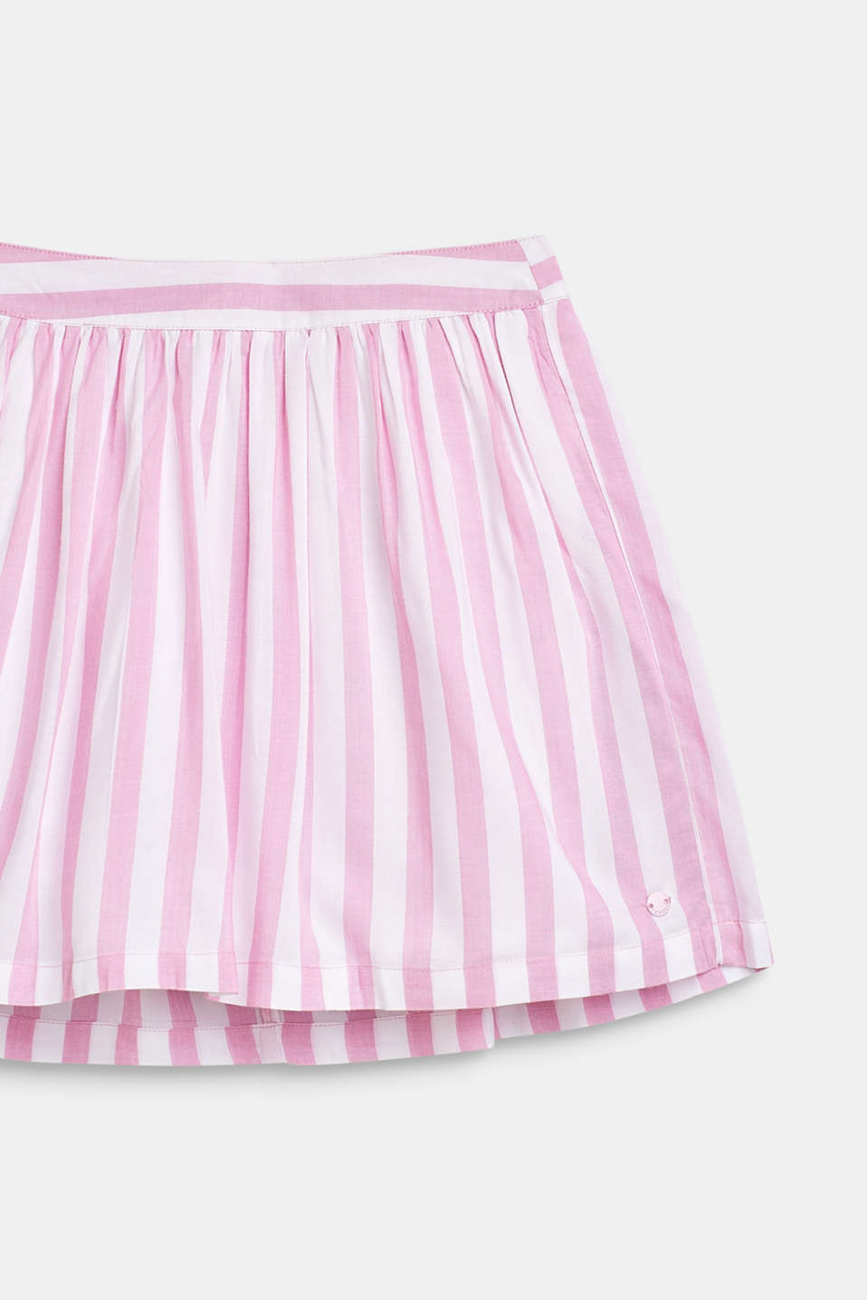 Striped skirt in lightweight woven fabric, LCCANDY PINK, detail image number 2