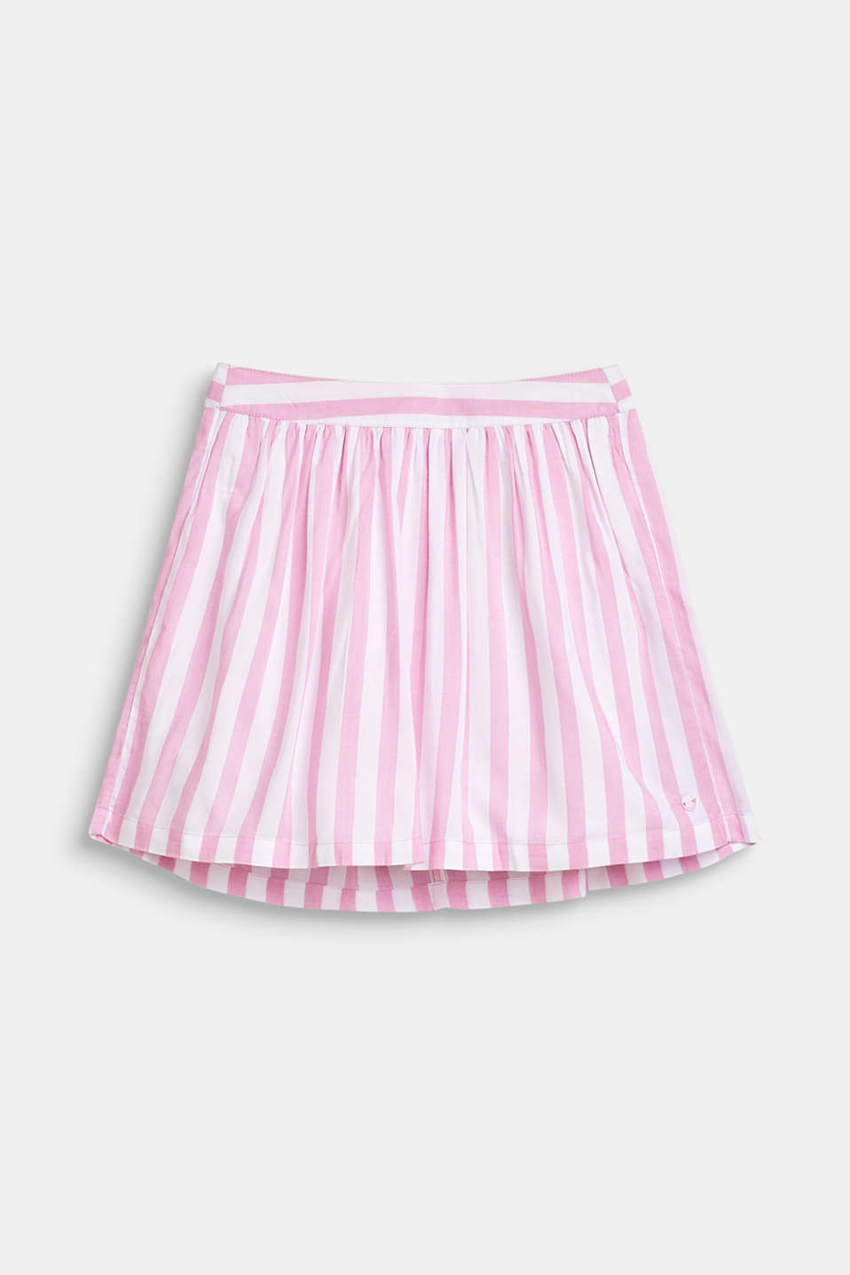 Striped skirt in lightweight woven fabric, LCCANDY PINK, detail image number 0