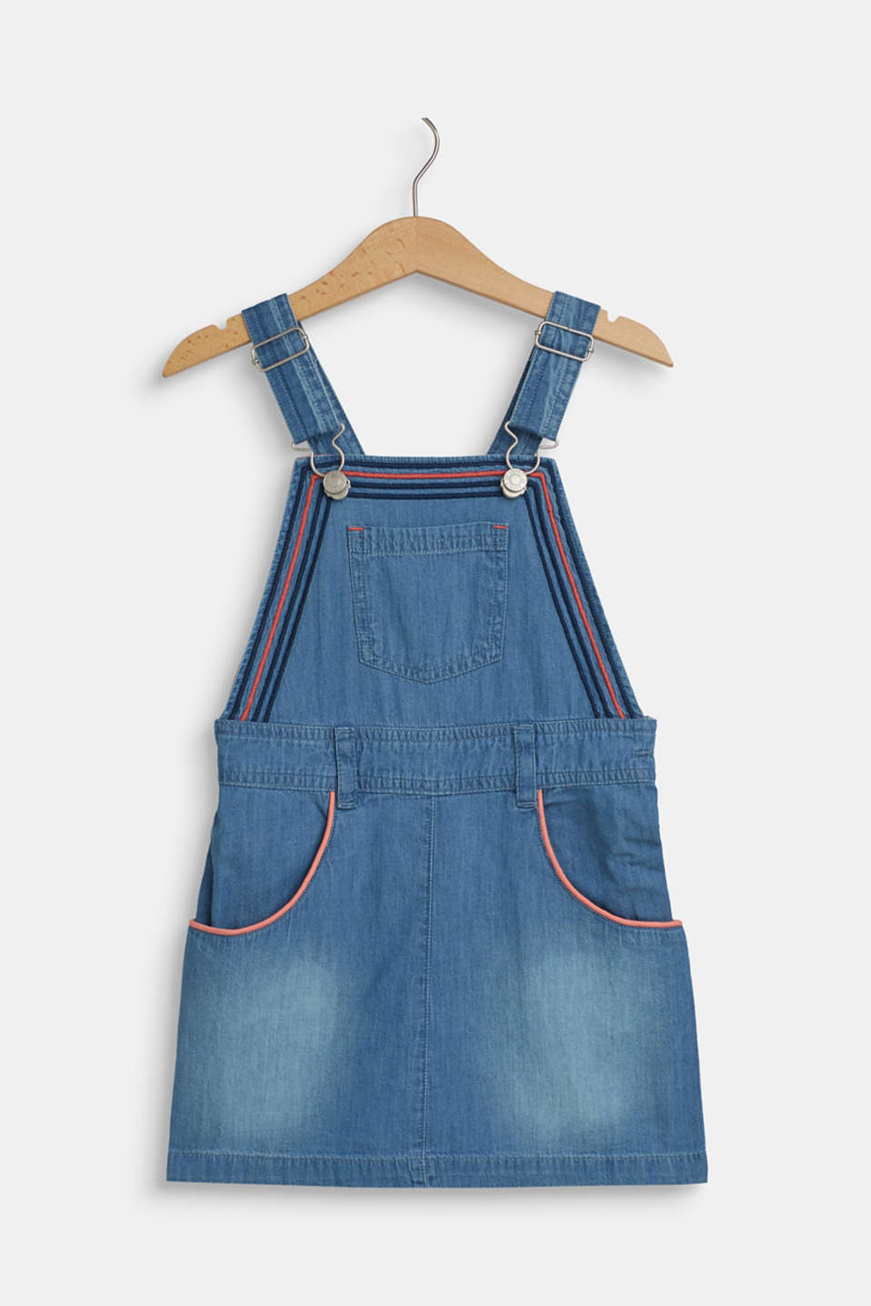 Esprit - Dungaree dress made of lightweight cotton denim