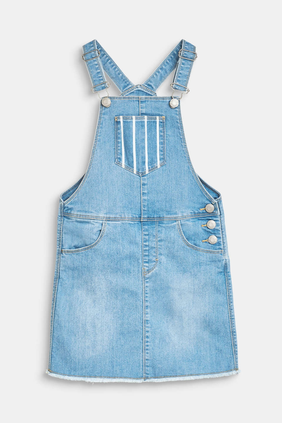 Esprit - Denim dress with bib