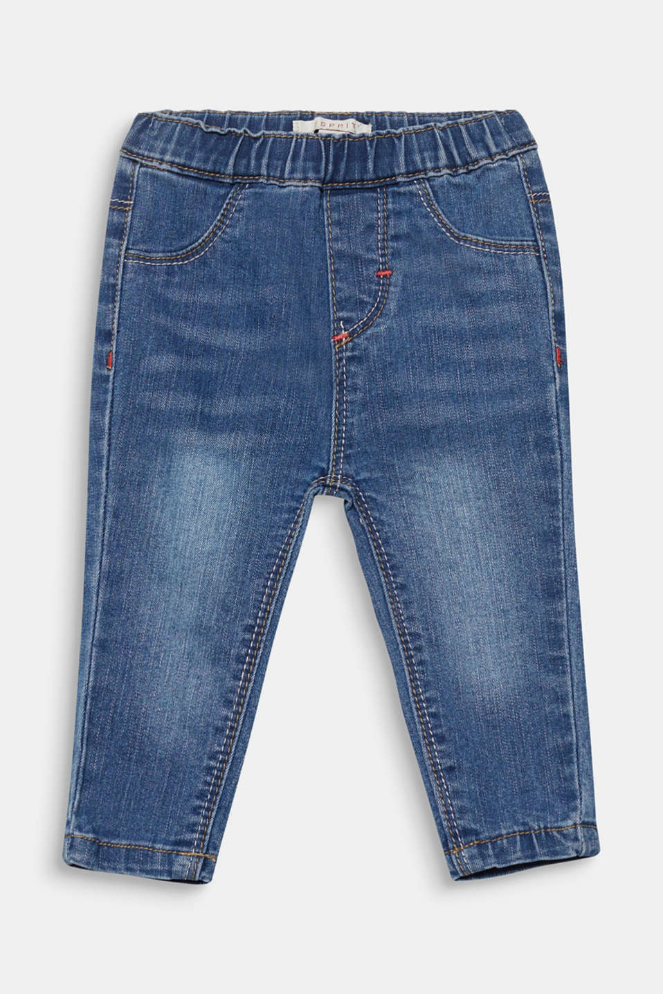 Esprit - Elasticated stretch jeans with washed effects