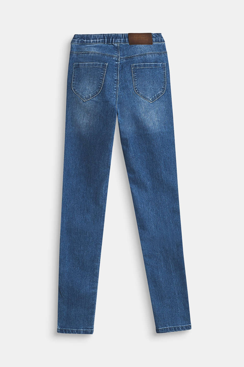 Stretch jeans with elasticated waistband, LCMEDIUM WASH DE, detail image number 1