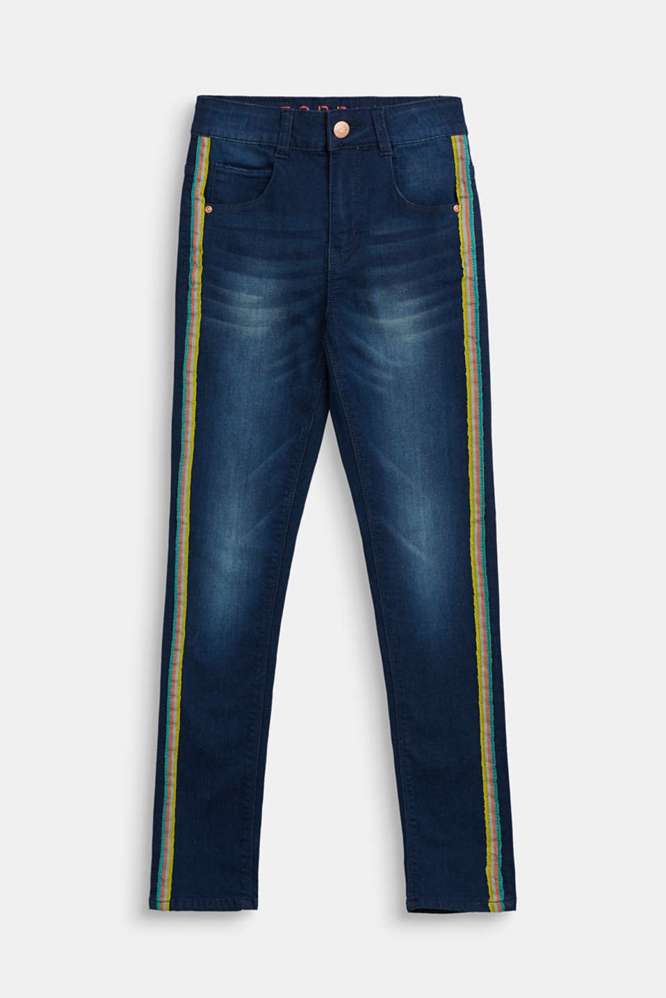 Esprit - Super stretch jeans with racing stripes